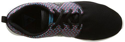 Le Coq Sportif Dynacomf Geo Jacquard, Baskets Basses Mixte Adulte Noir(Black)