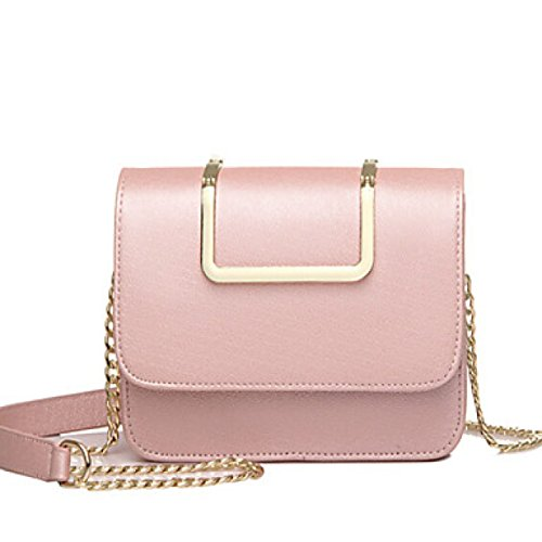 DFUCF Damen Damen PU Büro Beruf Umhängetasche Kuriertasche Handtasche Umhängetasche Tasche Mode Lässig Robust Langlebig Blushing Pink