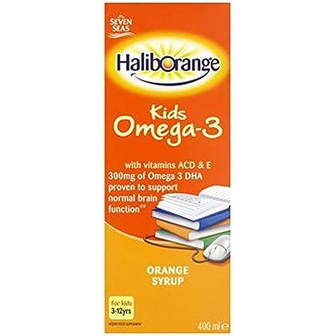 Seven SeasHaliborange Omega-3 Sciroppo Per I Bambini Con Le Vitamine A E C D - 400ml