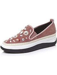 Zapatos con Cuentas Rhinestone Ocasionales de Las Mujeres Zapatos de Plataforma Gruesa Zapatos Mocasines Antideslizantes...