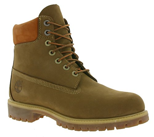 Timberland 6in Premium Boot Dark Rubber CA19SM, Stivali Marrone