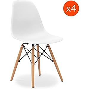 dsw stuhl charles eames style polypropylen matt set von 4. Black Bedroom Furniture Sets. Home Design Ideas