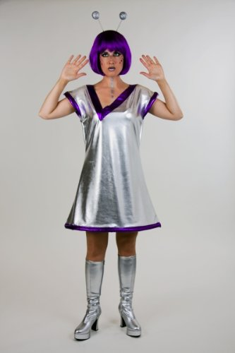 Karneval Damen Kostüm Galaxia als Alien Astronautin Fasching 44/46