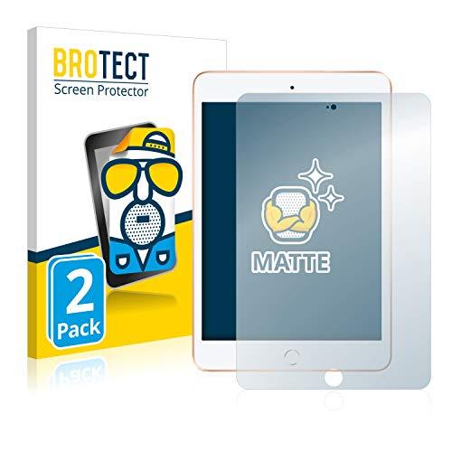 BROTECT Schutzfolie Matt kompatibel mit Apple iPad Mini 5 2019 [2er Pack] - Anti-Reflex -