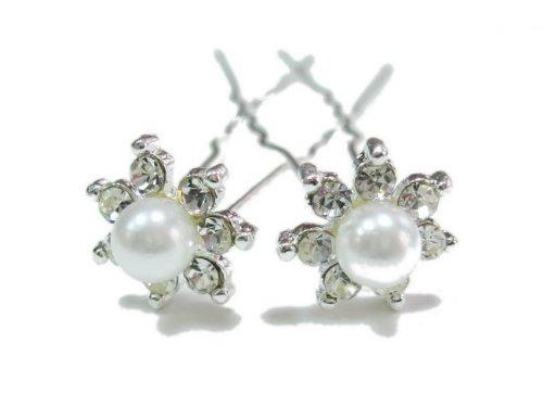 rougecaramel - Accessoires cheveux - Epingle cheveux en perles / pic à cheveux mariage lot 2pcs