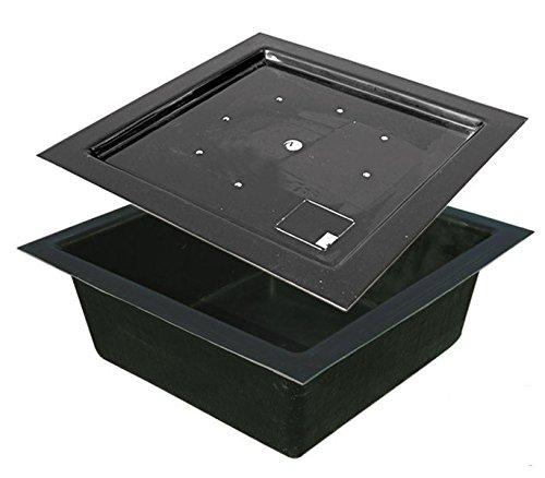 GFK Becken mit Abdeckung 120/120 cm 300 ltr. Quadratbecken Springbrunnenbecken Becken