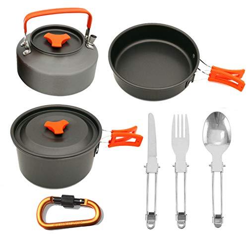 Hauptwerkzeuge Set Tool ZYUEER Outdoor Camping Set Pot Teekanne Kombination, 2 3 Personen Set Pot -