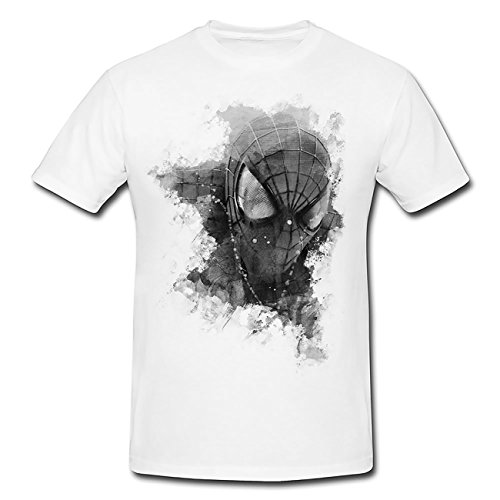Paul Sinus Art The Amazing Spider Man 2 T-Shirt Herren, weiß mit Aufdruck