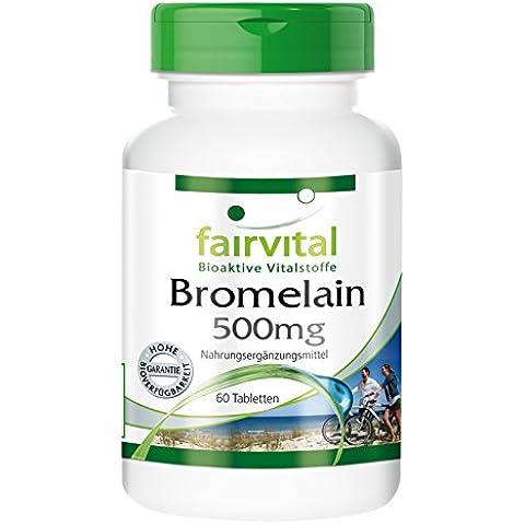 Fairvital - Bromelina 500mg - 60 compresse (Bromelina Naturali)