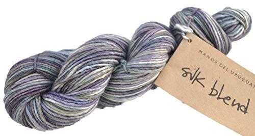 Manos del Uruguay Silk Blend Fb. SB3301 - Abalone, 50g Merinowolle mit Seide, handgefärbt mit wunderschönem Farbverlauf, Wolle mit Seide zum Stricken -
