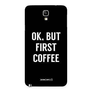 Special Ok But First Coffee Black Back Case Cover for Galaxy Note 3 Neo