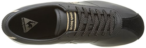 Le Coq Sportif Wendon W Sparkly, Baskets Basses Femme Noir (Black/Gold)