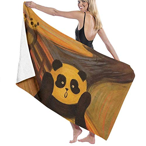 Ewtretr Toalla Playa Bath Towels Scream Panda Microfiber