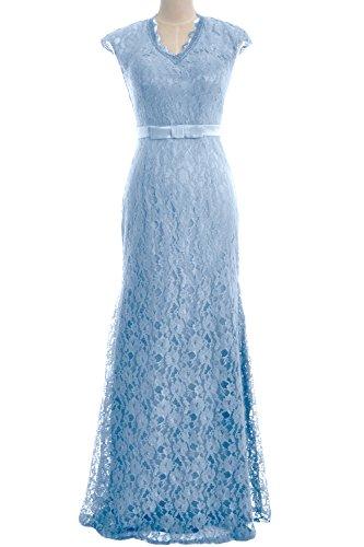 MACloth - Robe - Moulante - Manches Courtes - Femme bleu ciel