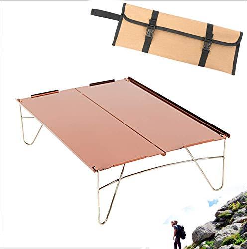 ZGYQGOO Zusammenklappbare Camping-Picknicktische - Tragbarer kompakter, leicht zusammenklappbarer Rolltisch in Einer Tasche - Klein, leicht, leicht zu transportieren Camp, Strand, Outdoor -