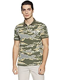 Ed Hardy Men's Printed Regular Fit Polo