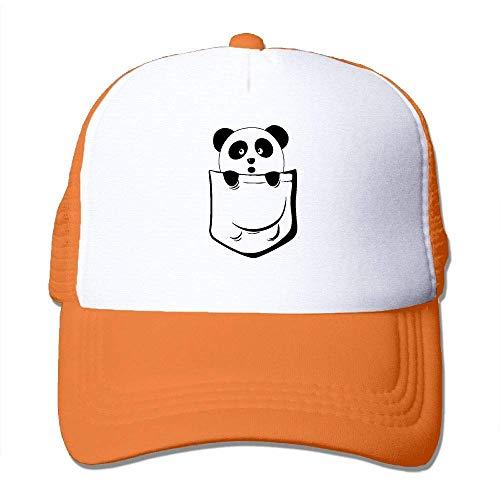 Voxpkrs Taschen-Panda-Unisexbaseballmützen-Sport-Tageshut, der Flache Kappe Q8S3S443 wäscht
