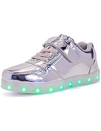 Bangbei Scarpe Sneakers Bambini Bambino LED Lampeggiante USB 7 Colori Colorati Ragazzi Ragazze Regalo Natale Capodanno Compleanno
