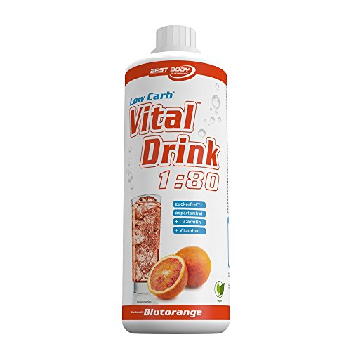 Best Body Nutrition - Low Carb Vital Drink - Blutorange (1000ml Flasche)