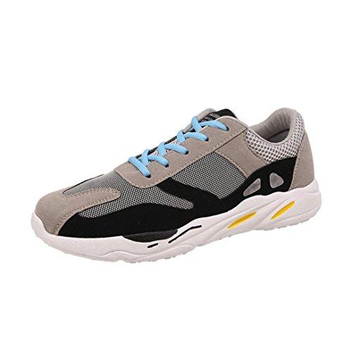 FNKDOR Atmungsaktive Herren Sportschuhe Leichtgewicht Laufschuhe Sneaker(EU 43 (CN:44),Grau)