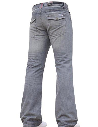 91a25e54d94 BNWT NEW MENS BOOTCUT FLARED BIG KING SIZE WIDE LEG BLUE DENIM JEANS ALL  WAIST Grey 40W X 34L - Buy Online in Oman.