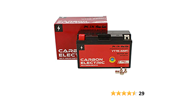 Gel Batterie Yt7b 4 12v 6 5ah Carbon Electric Rollerbatterie Vorgeladen Versiegelt Wartungsfrei Akkumulator Motorrad Motorradbatterie Auto