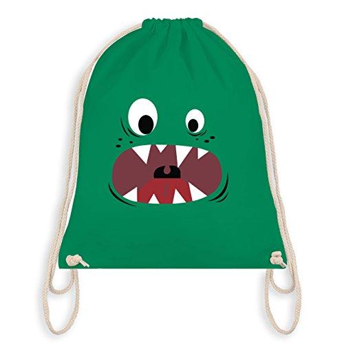 Karneval & Fasching Kinder - Monster Gesicht Kostüm 3 - Unisize - Grün - WM110 - Turnbeutel & Gym Bag