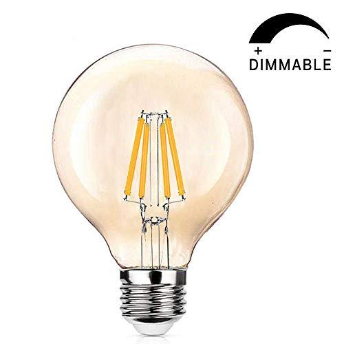 e27 Edison Vintage Glühbirne - SiFar Vintage Led Glühbirne, lampe im antiken Stil, dimmbar leuchtmittel 40W, 2300K Bernstein warm, Edison-Leuchten für Hausleuchten und dekorativ [Energieklasse A+] (Edison Lampe Leuchte)