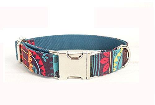 Kismaple Impresiones Coloridas Hecho a mano Pet Soft & Collares de perro cómodos ajustables Cuello...