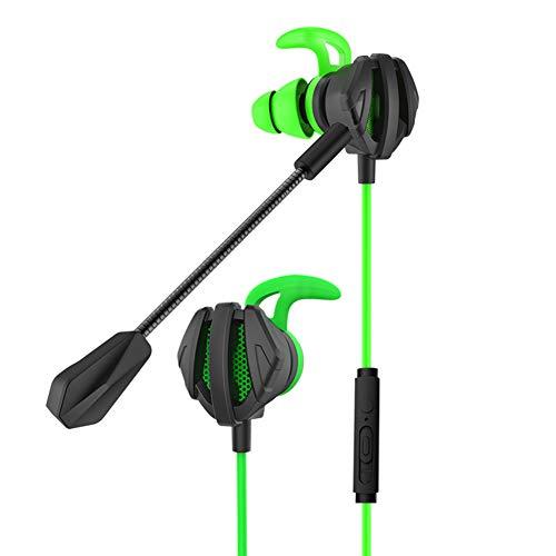 Rivadal Kabelgebundener Gaming-Kopfhörer mit Rauschunterdrückung für Stereo-Bass-Ohrhörer - Headset mit Mikrofon, kompatibel für Mobiltelefone