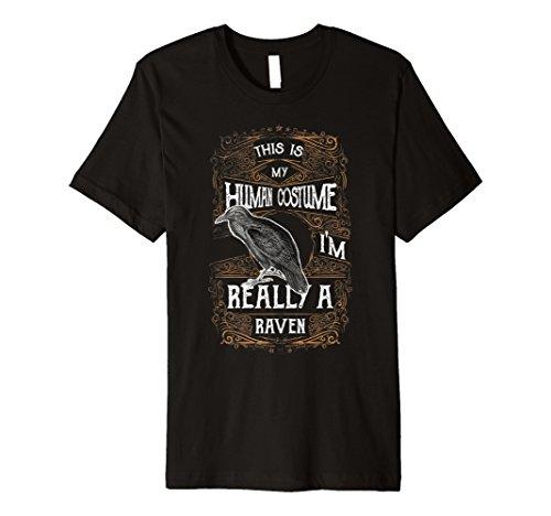 (Raven Spinnangler T-Shirt Love Ravens Echthaar Kostüm Geschenk)