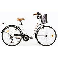 Moma Bikes BIC26BUN Vélo de Ville Mixte Adulte, Blanc