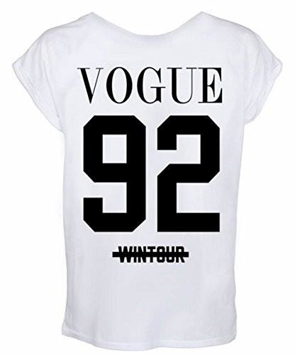 Unisex-T-Shirt, Vogue 92Wintour, More issues than Celine Paris Gr. Medium 10-12 UK, weiß