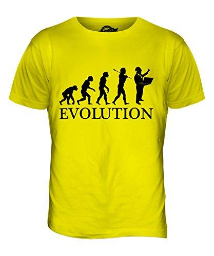 CandyMix Baumanagement Baustellenleiter Evolution Des Menschen Herren T Shirt Zitronengelb