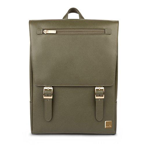Moshi 99MO087601 Helios Mini Rucksack mit Laptopfach, 33,02 cm (13 Zoll) Olivgrün (Leichten, Robusten Gepäck)