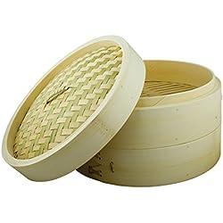 Swift Spice 12108608 - Vaporera de bambú de 2 pisos con tapa, 20 cm