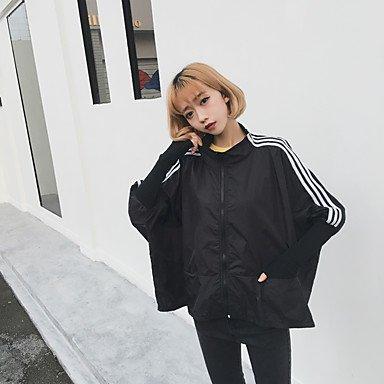zhENfu BF ressort lâche vent nouveau wild bat sleeve baseball coréen uniforme veste à manches longues,signe One-Size,Black