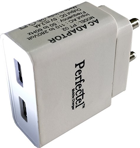 Hi Speed Turbo 2 USB Fast Mobile Charger Adaptor 2.4 AMPS + Cable Micro USB B type - Over Current Protection, Voltage & Short circuit Protection, Compatible Samsung OnePlus Lenovo Xiaomi Motorola Asus Honor Intex Oppo Cool pad gionee HTC Vivo Micromax data wind LeEco Lava LYF Spice Blackberry Infocus Mobile Power banks Mp3 Players Android Mobile Phone / Apple IPhone, IPad, IPod, windows series Mobile phones, Tablets, MP3 Players-EZ238  available at amazon for Rs.499