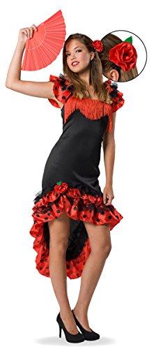 Seiler24 Flamenco Tänzerin Kostüm für Damen Gr. 40-42 Karneval