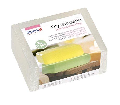Glorex 6 1600 glycerin-seife Eco - Transparente, 500g - Probado dermatológicamente - Vegana, SIN Animal componentes - Disponible En Colores Opaco Y TRANSPARENTE - BUENO Adecuado Para El Derramar de jabón - Alta Calidad Jabón De Glicerina