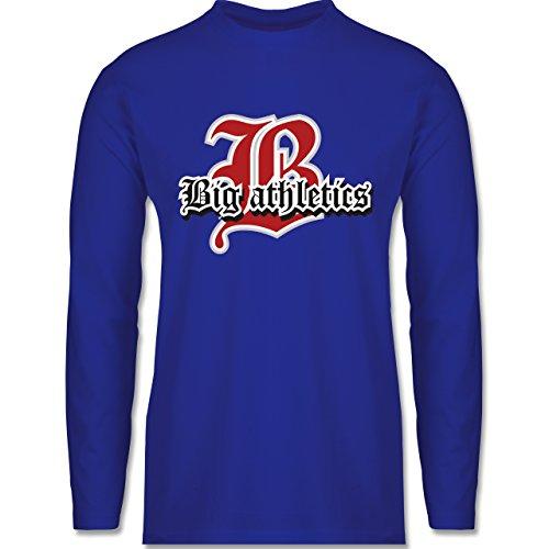 Basketball - Big Athletics - Longsleeve / langärmeliges T-Shirt für Herren Royalblau
