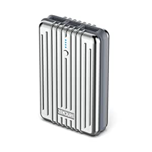 Zendure A3 Power Bank 10000mAh – Ultra-durable 10000mAh Portable External Battery Charger for Phone, iPad, Android and More, PC Advisor Winner 2014-2017 – Silver