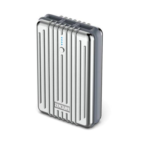 ZENDURE 2nd Gen A3 Emergenza Caricatore Portatile Batteria Esterna 10000mAh - Powerbank Durevole ed Estremamente Compatto 2.1A Max per iPad, iPhone, Samsung e altri iOS e Android (Argento)