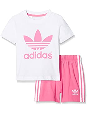 adidas Kinder Infant T-Shirt + Short Set Kleinkinder Anzüge & Bodies