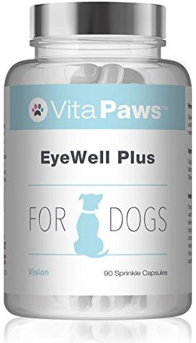 VitaPaws EyeWell Plus | 90 Cápsulas para espolvorear | Apoyo diario para la salud ocular de nuestra mascota | Indicado para perros