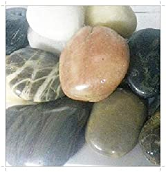 SOOTHING IDEAS 1kg Mixed Colour Polished River Stones Home Garden Water Features Aquarium