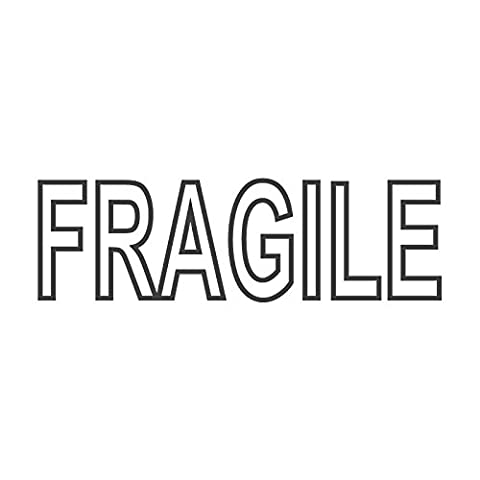 Fragile mit Outline, Wortstempel