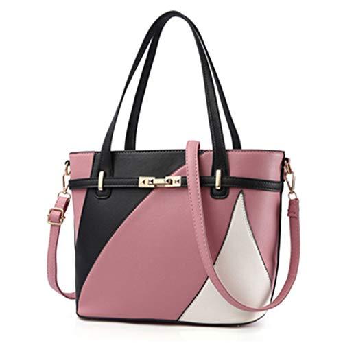 Geometrische Frauen Crossbody Schulter Handtaschen DarkPink One Size