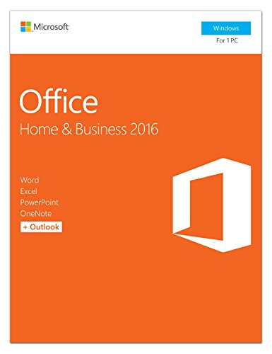 Microsoft Office Home and Business 2016 for Windows 7,8,10 for 1 PC / User (32Bit/64Bit) with Media DVD Format (Word, Excel, PowerPoint, OneNote, Outlook 2016)  available at amazon for Rs.26175