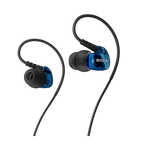 Adorer Auriculares deportivos, AD1 Anti-sudo In-Ear Cascos con micrófono, aislamiento de ruido premium para iPhone, iPad, Huawei, XiaoMi, Android, MP3 etc - Azul